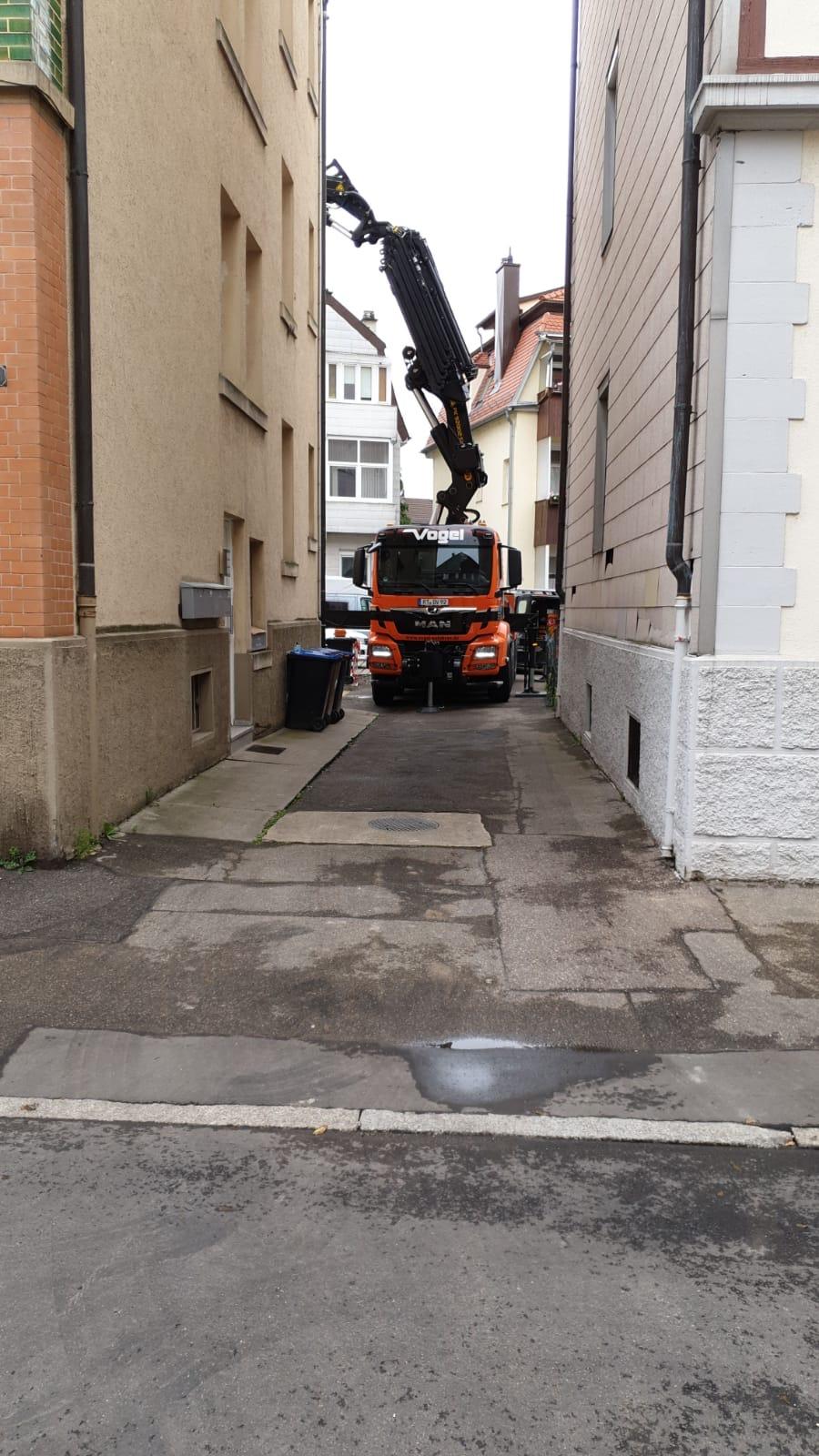 MAN Lastwagen mit Palfinger Ladekran im Einsatz