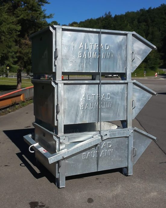 Allzweck-Container zum Transport von verschiedenen Materialien wie z.B. Kies, Dachmaterial
